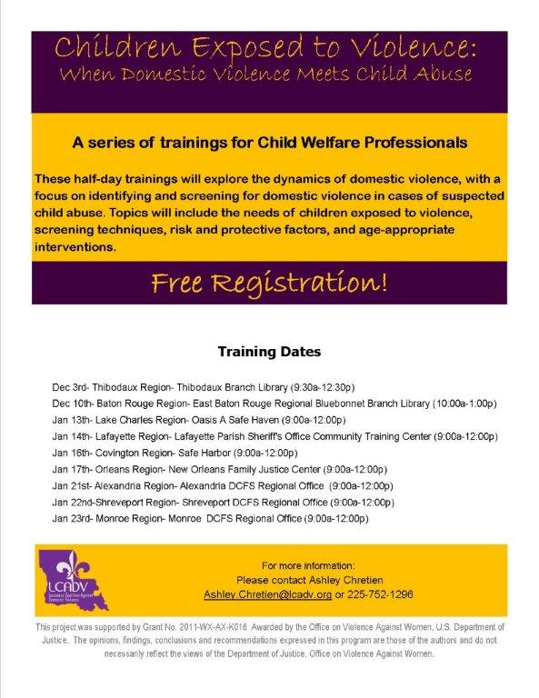 Child Welfare-CEV flyer