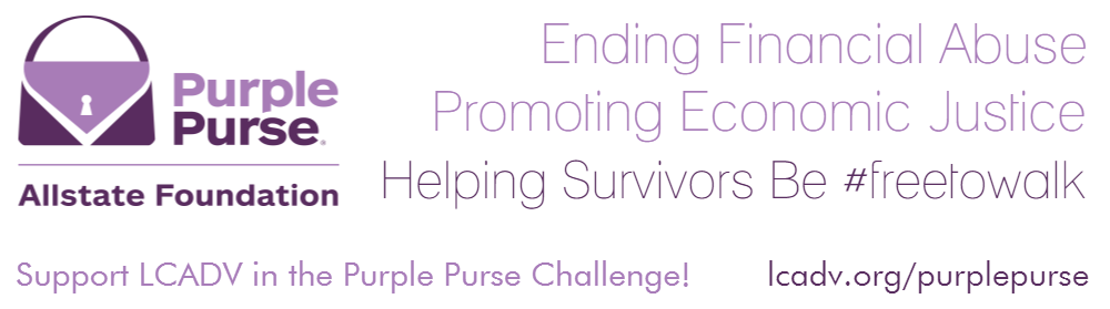 LCADV Support LCADV in Allstate's Purple Purse Challenge!