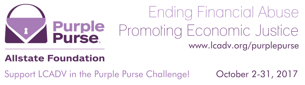 LCADV Purple Purse Challenge Begins October 2nd.